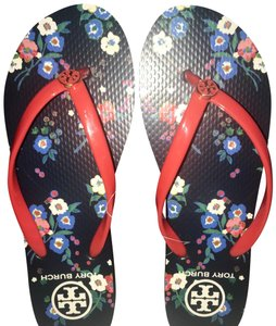 Tory Burch Red/Pansy Bouquet Sandals