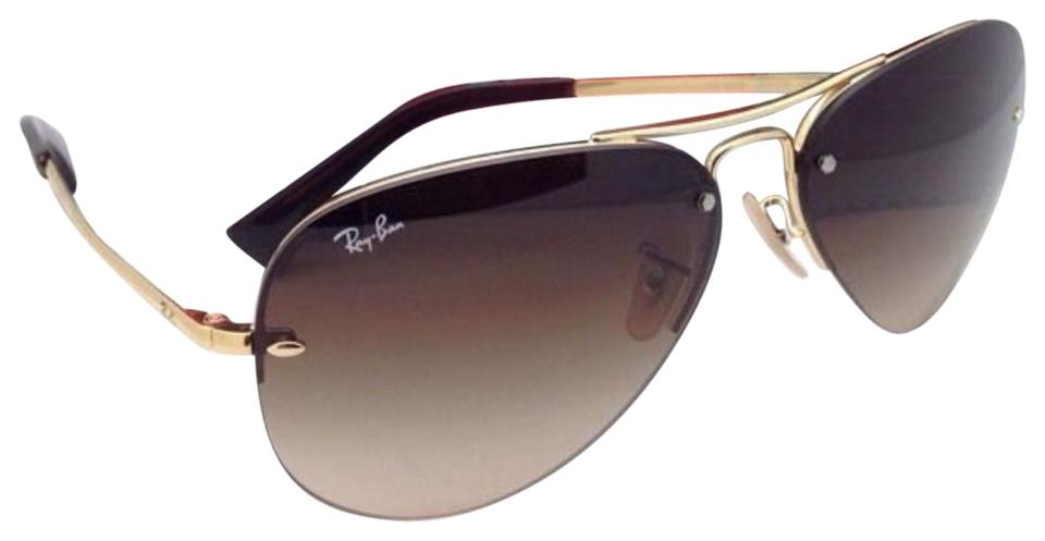 b63fff3d11 Ray-Ban Rb 3449 001 13 59-14 Arista Gold Frame W  Brown Gradient New ...