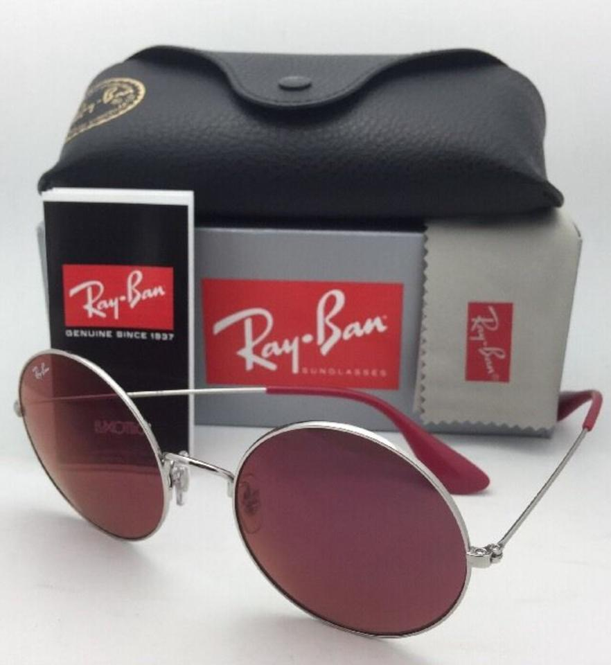 f39e6896973 Ray-Ban New Rb 3592 003 D0 Silver Round Frame W  Red Classic Lenses 003 D0  W Red Sunglasses