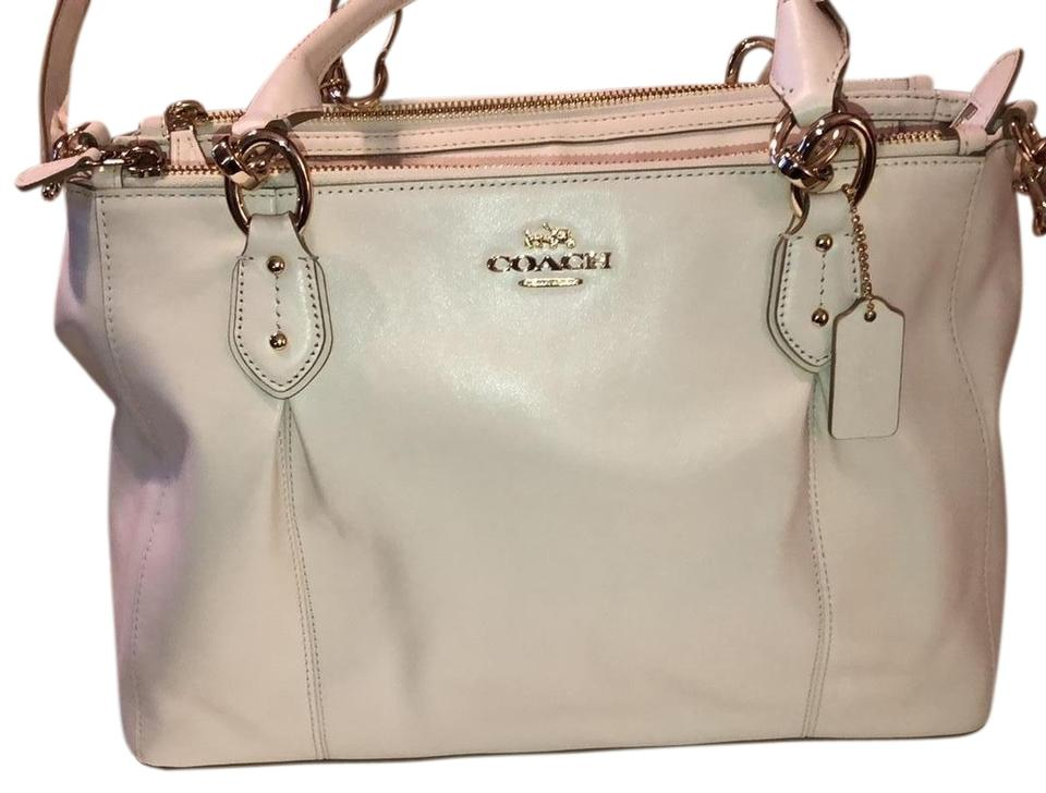 e42ef424d5 Coach Colette Handbag Cream Beige Chalk Leather Cross Body Bag - Tradesy