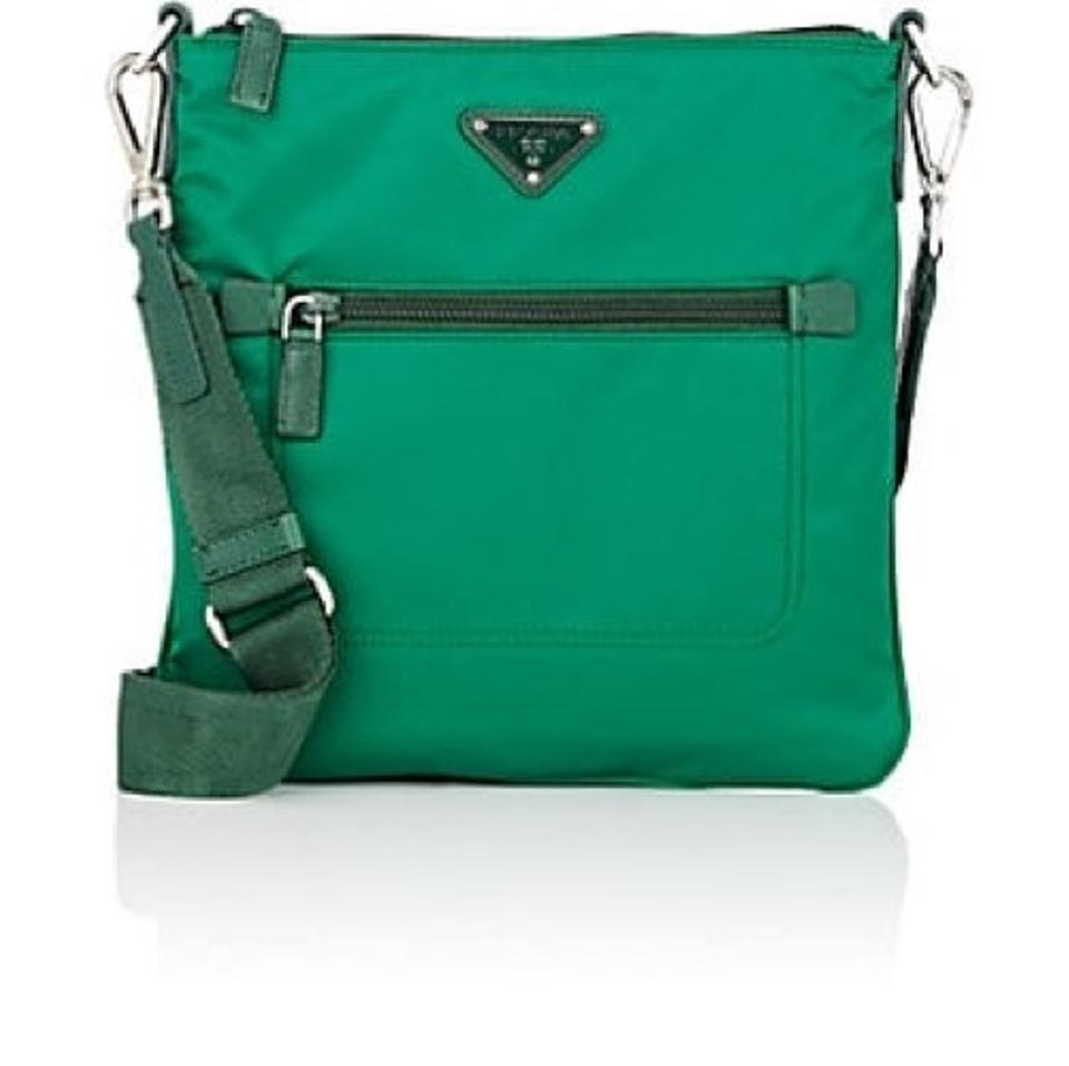 e8de7ca29f704a Prada Tessuto Green Nylon Cross Body Bag - Tradesy