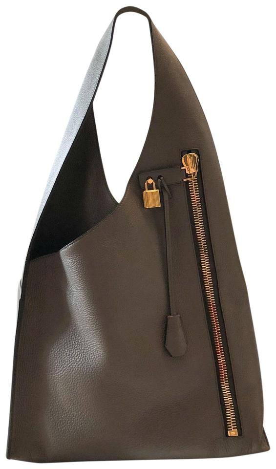 c471ab80009b Tom Ford Alix Large Zip Gray Leather Hobo Bag - Tradesy