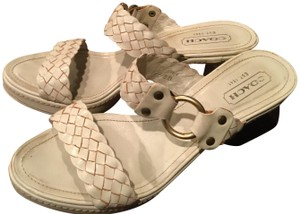 eec60077b59 White Coach Sandals - Up to 90% off at Tradesy
