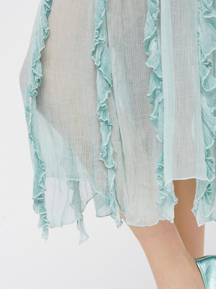f28d80dc7d Free People Follow Me Crinkle Seafoam Skirt Size 6 (S