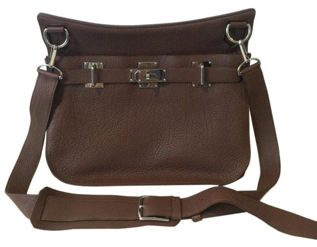 Item - Jypsiere Chocolate Brown Leather Cross Body Bag