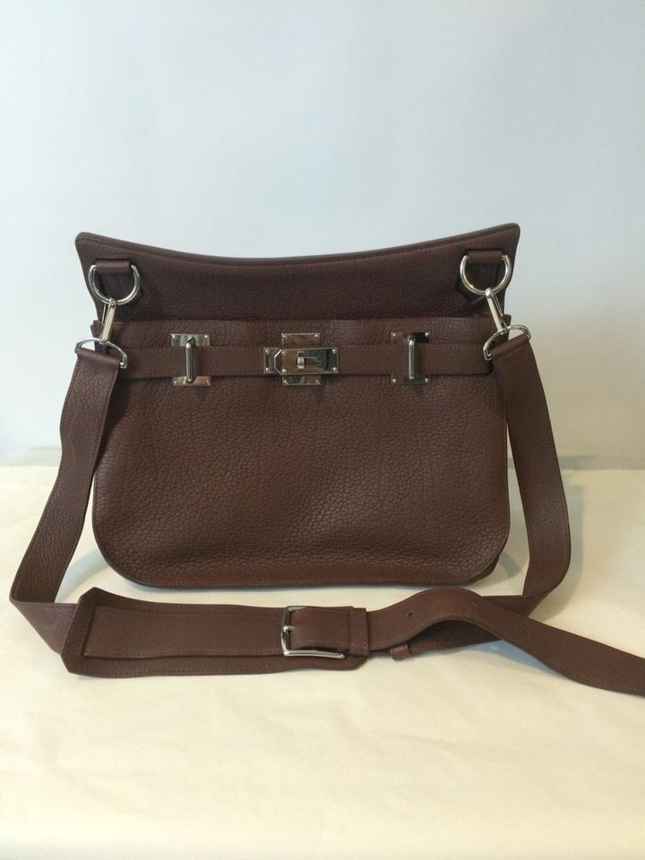 d93f91db6e Hermès Jypsiere Chocolate Brown Leather Cross Body Bag - Tradesy