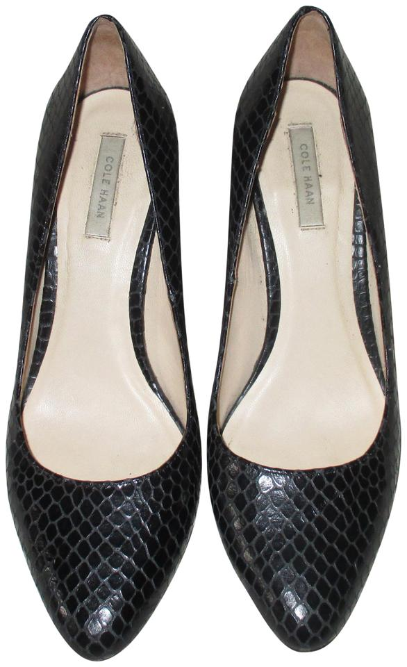 642dc2d4209 Cole Haan Black Cole-haan-grand-os-black-snakeskin-pumps-size-7-b Pumps  Size US 7 Regular (M, B) 68% off retail