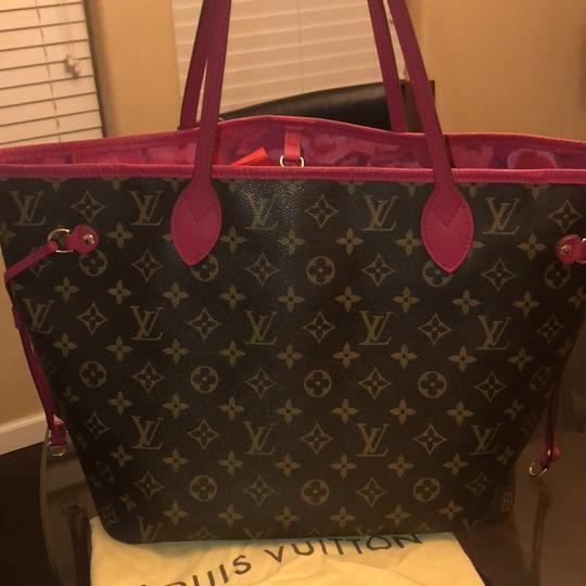 Louis Vuitton Tote in brown and pink Image 3