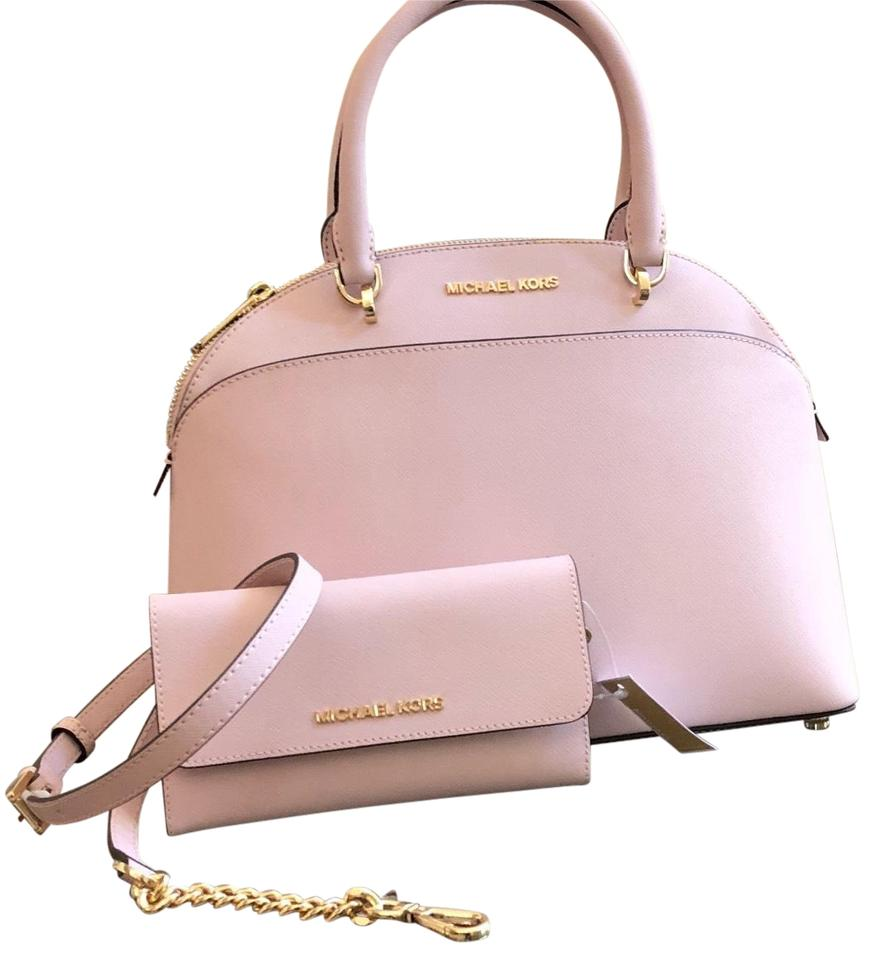 c4845b486d75 Michael Kors Emmy Crossbody Strap Large Leather Satchel in blossom Image 0  ...