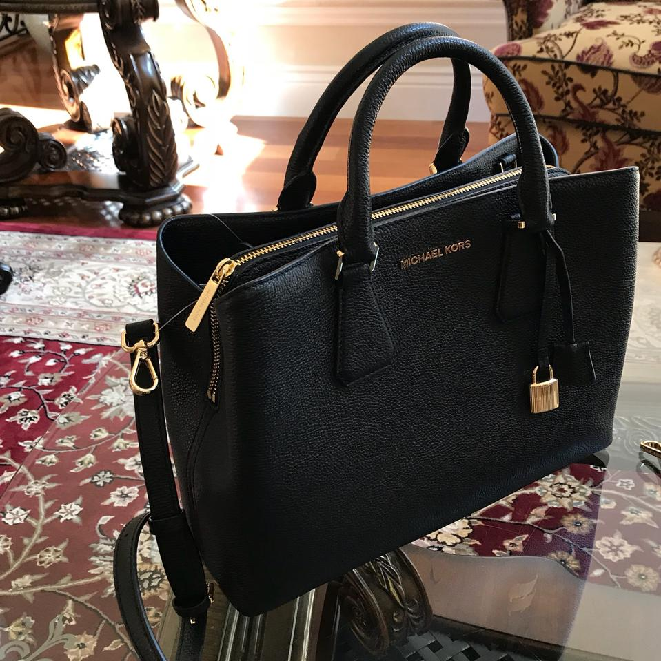 9588af966cf5 Michael Kors W Camille Large Satchel&bundled W/ 3qtr Zip Wallet Black Leather  Satchel - Tradesy