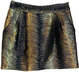 Club Monaco Mini Skirt Gold
