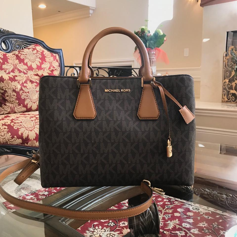 bdd871ad8fd0 Michael Kors W Camille Large Satchel&bundled W/Lg Wallet Brown/Acorn ...