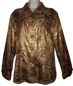 Chico's Coppery Gold Metallic Jacket