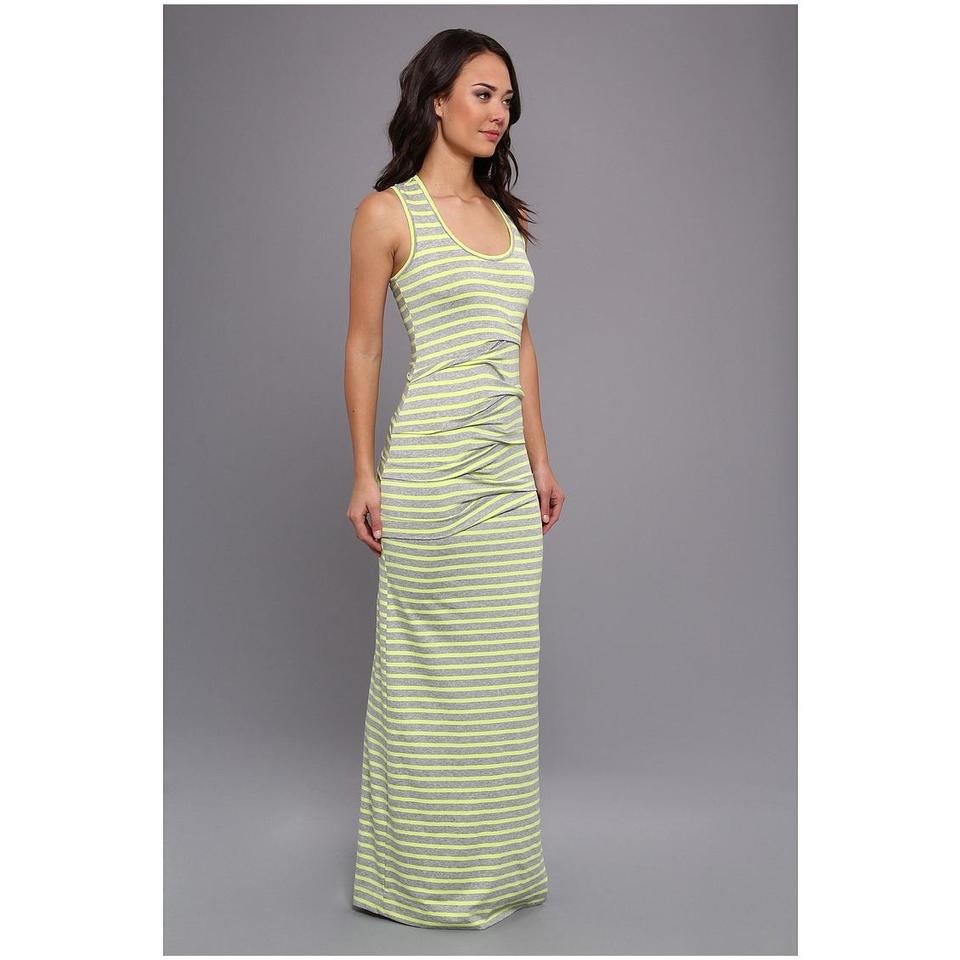 baced4c9da green Maxi Dress by Nicole Miller Maxi Striped Jersey Sleeveless Image 7.  12345678