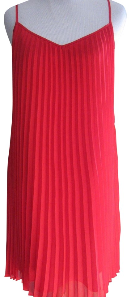 7ad1acf6e Laundry by Shelli Segal Strappy Polyester Pleated V-neck Chiffon Dress  Image 0 ...