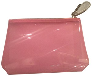 Nordstrom Nordstrom Toiletry Makeup Bag Clear Pink Silver