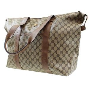 Gucci Made In Itally Brown Travel Bag