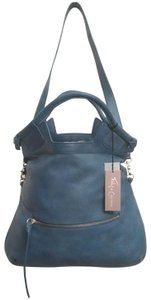Foley + Corinna Leather Tote in Blue
