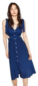 Zara short dress Blue Sundress Summer Denim Linen on Tradesy