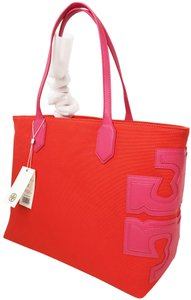Tory Burch Tote in poppy red/ fiesta