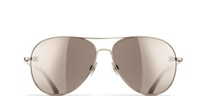 Chanel 4189TQ C395/6G Pilot Summer Gold & brown frame and Brown mirror lenses