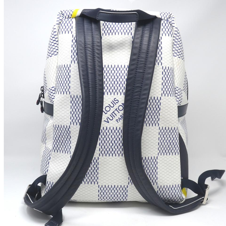 6c352d78a104 Louis Vuitton Apollo Damier America s Cup White   Blue Canvas Backpack -  Tradesy