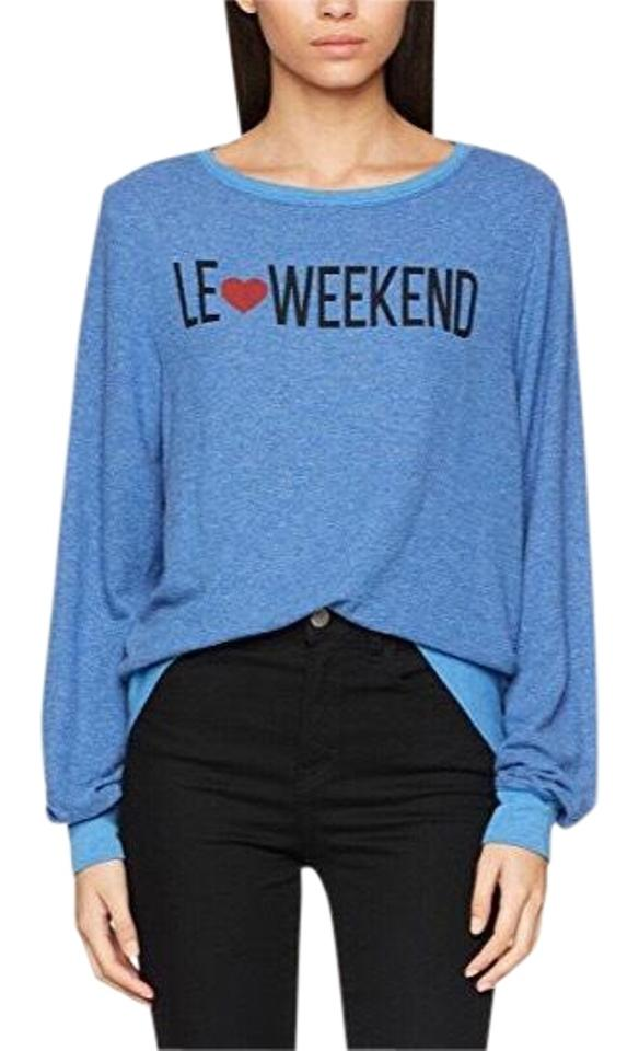 70cbaf3203ff4 Wildfox Baggy Couture Le Weekend Graphic Beach Jumper New Piscine ...