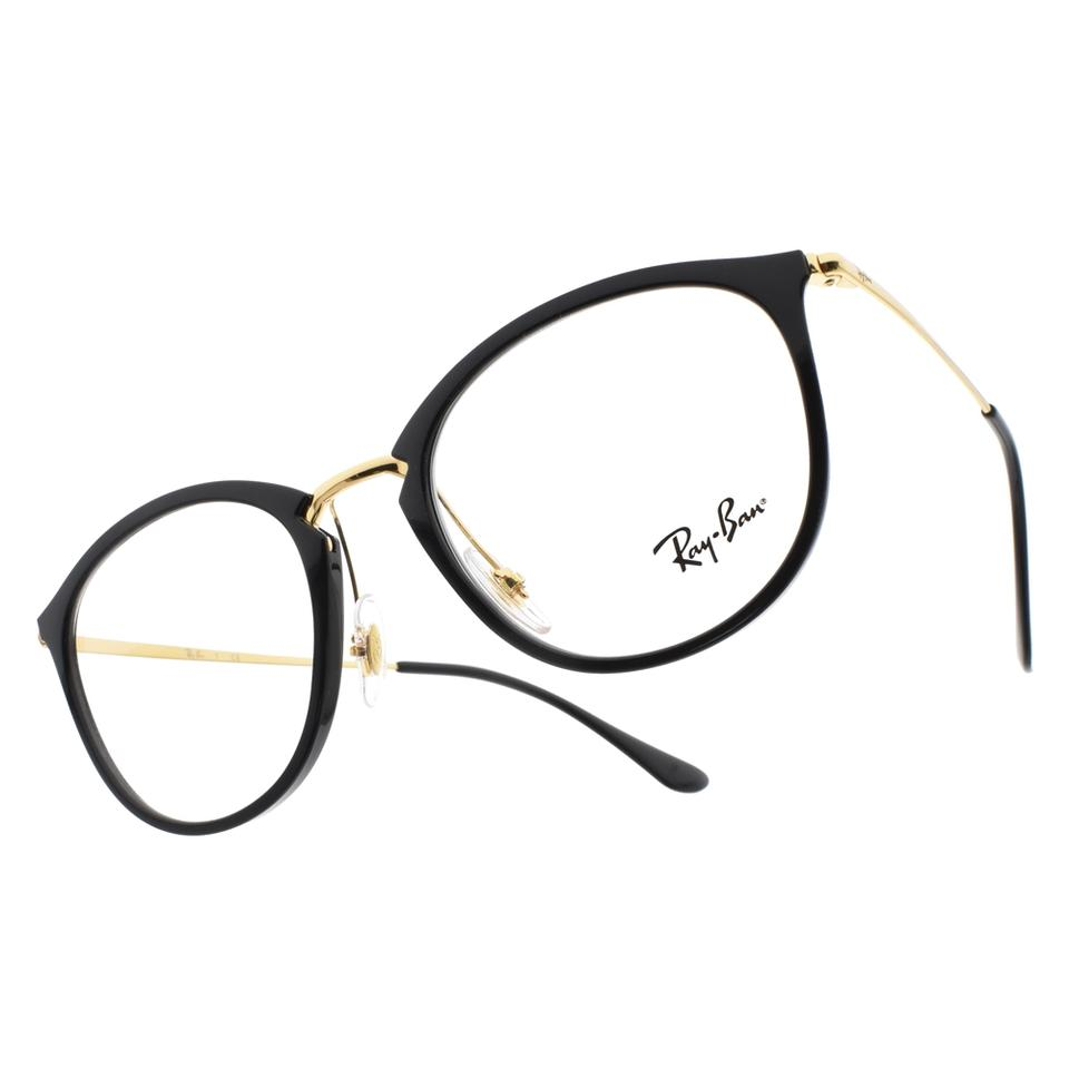 ... low cost ray ban new ray ban rb7140 round black gold metal eyeglasses  frames 60f05 587eb ... 0ee86cf7c6