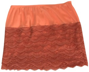 Kimchi Blue Urban Outfitters Lace Slip Slip Mini Skirt orange