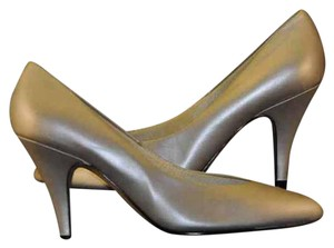 "Newport News 3"" Heels Silver Matte Pumps"