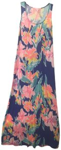 Blue Floral Maxi Dress by Lilly Pulitzer Maxi Sleeveless