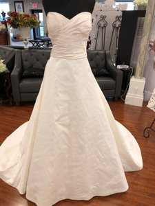 Justin Alexander Natural Silk & Dupin 8635 Casual Wedding Dress Size 24 (Plus 2x)