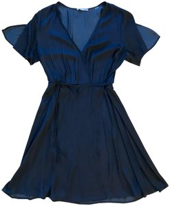 Tart Collections short dress Navy Wrap Silky Split Sleeves on Tradesy