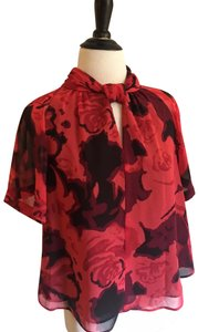 Rachel Roy Top red black