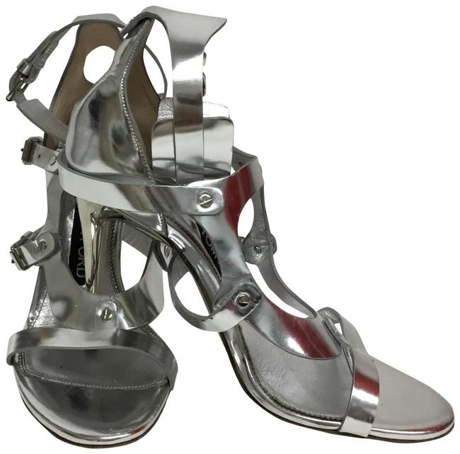 Item - Silver With Ankle Cuff Sandals Size EU 38 (Approx. US 8) Regular (M, B)