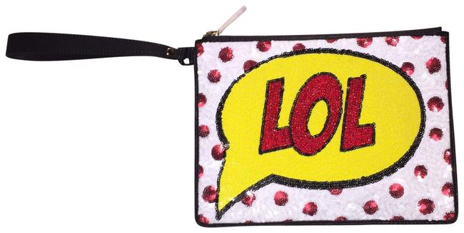 Item - Micro Sequinned Multicolor Leather Wristlet