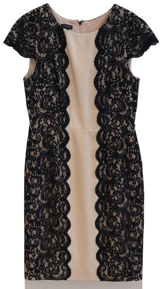 eeed7dbe9d7 Talbots Black Nude 23147 Mid-length Cocktail Dress Size 8 (M) - Tradesy