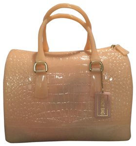 Furla Candy Satchel in coral. light pink