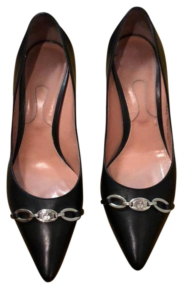 Bally Bally Bally Black Leather One Inch Heels Pumps 8b0d0d
