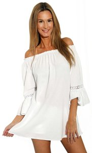 Lirome Resort Cottage Chic Off Shoulders Tunic