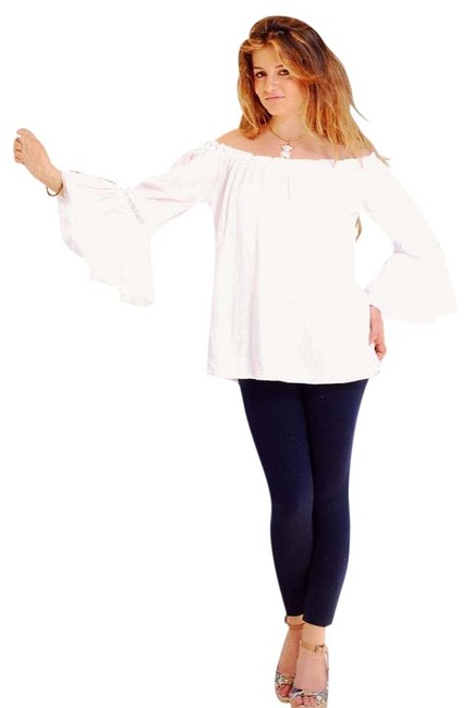 Lirome Resort Cottage Chic Off Shoulders Tunic Image 1