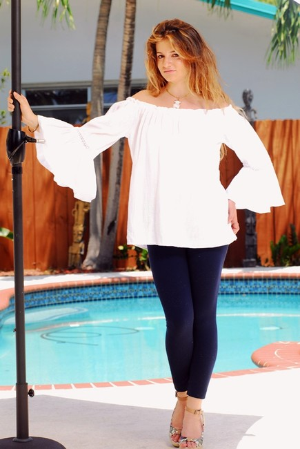 Lirome Resort Cottage Chic Off Shoulders Tunic Image 2