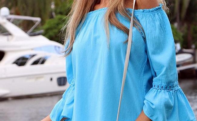 Lirome Resort Cottage Chic Off Shoulders Tunic Image 8