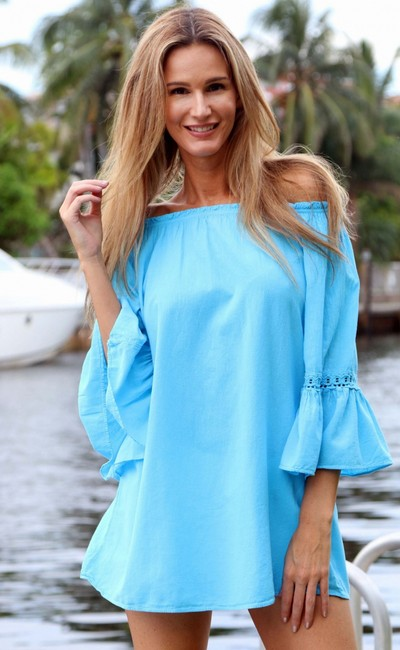 Lirome Resort Cottage Chic Off Shoulders Tunic Image 9