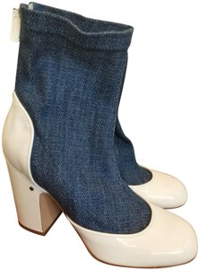 Laurence Dacade White blue denim Boots