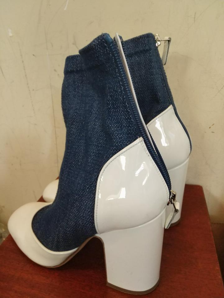 54886d59695 Laurence Dacade White Blue Denim Paris Patent Leather Melody Boots/Booties  Size EU 39 (Approx. US 9) Regular (M, B) - Tradesy