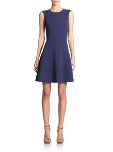 Michael Kors Collection short dress blue Stretch Wool Fit And Flare Mini on Tradesy