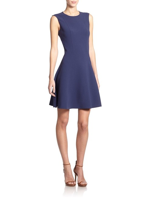 Michael Kors Collection short dress blue Stretch Wool Fit And Flare Mini on Tradesy Image 1