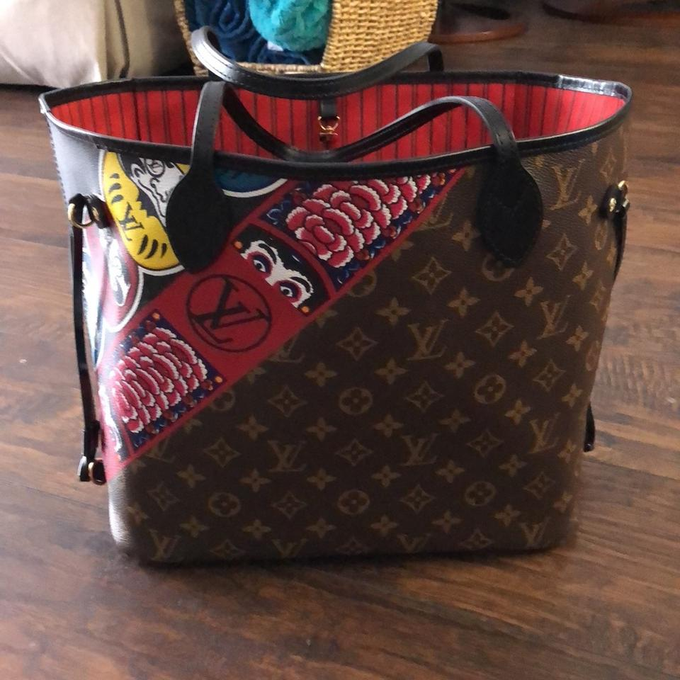 02b68559b6ac Louis Vuitton Neverfull Monogram Mm Kabuki Multicolor Leather Tote ...