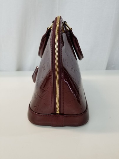 Louis Vuitton Alma Patent Maroon Leather Hobo Bag - Tradesy 82ddb53e73